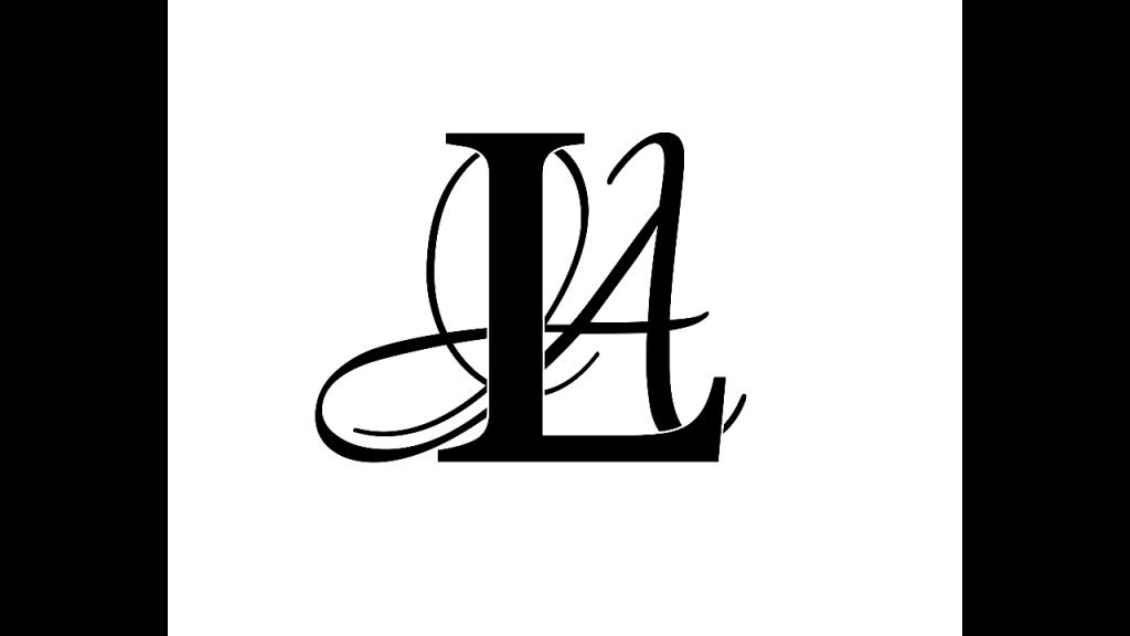 The official LA Page Makeup logo.