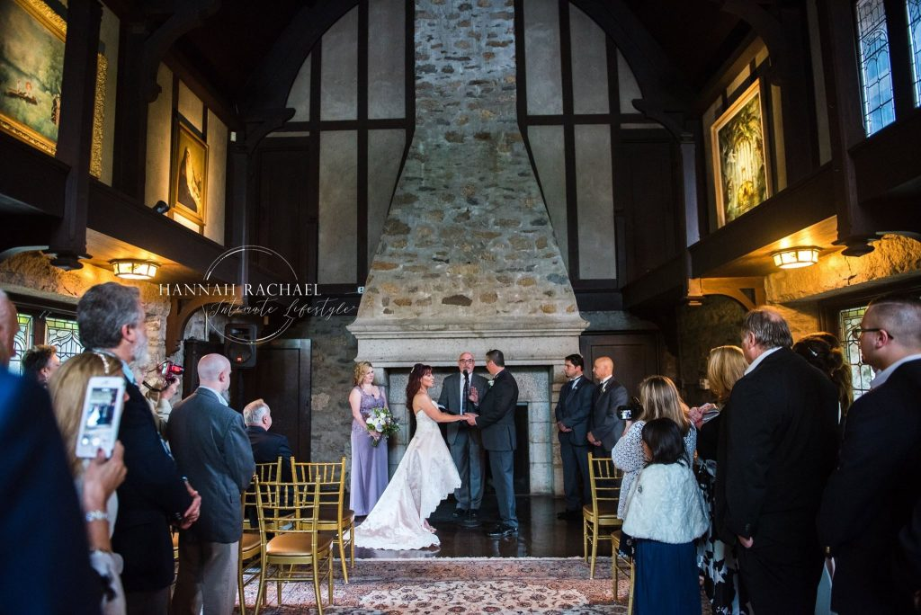 Beautiful, intimate ceremony at Saint Clement's Castle in Portland, CT.