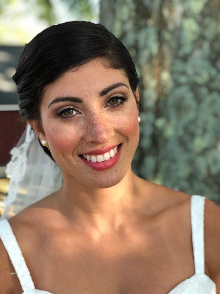 Timeless, classic bridal beauty at Lavender Pond Farm in Killingworth, CT by LA Page Makeup.