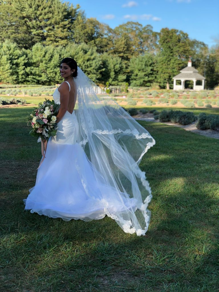 Jennifer made the most stunning glam bride! Check out these images of her before and after, final makeup look, and everything coming together in her wedding dress!