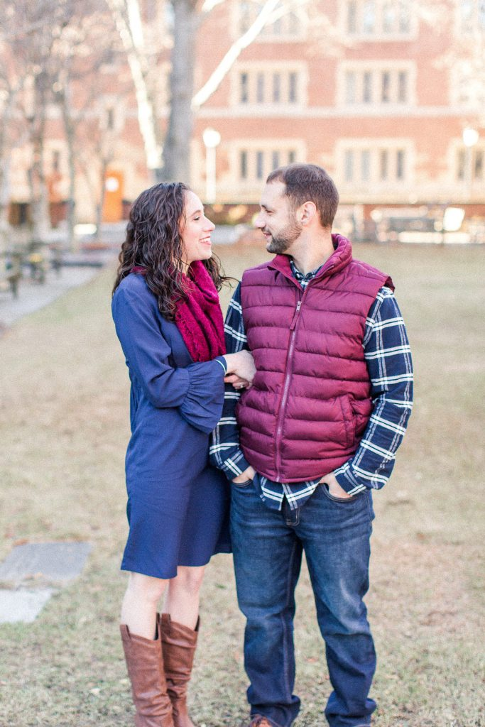 Engagement photoshoot at Yale University in New Haven, CT.
