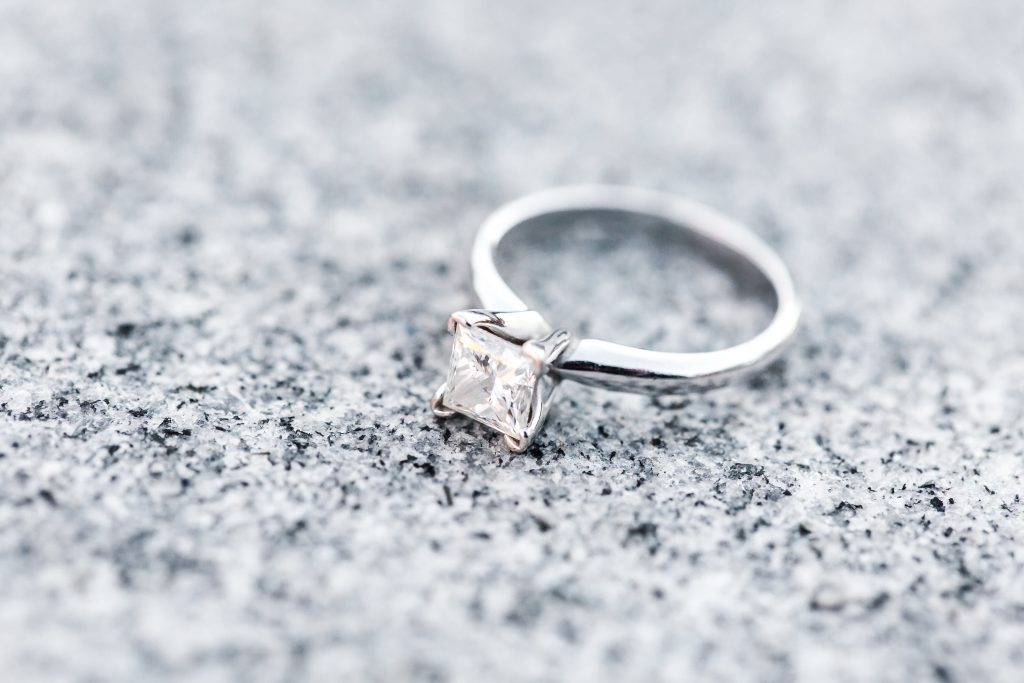 Beautiful engagement ring shot
