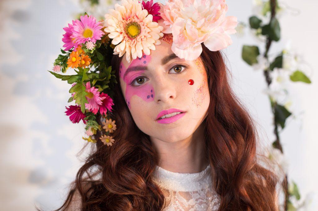 Floral Photoshoot La Page Makeup