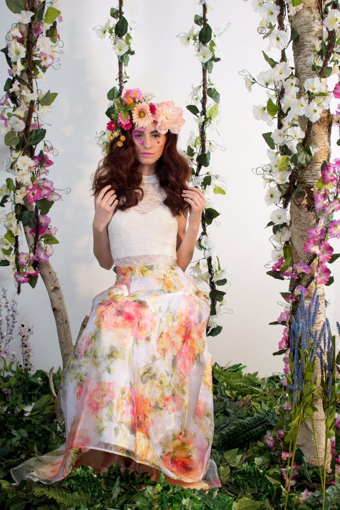 Flirty, fun, floral inspired photoshoot -makeup by LA Page Makeup.