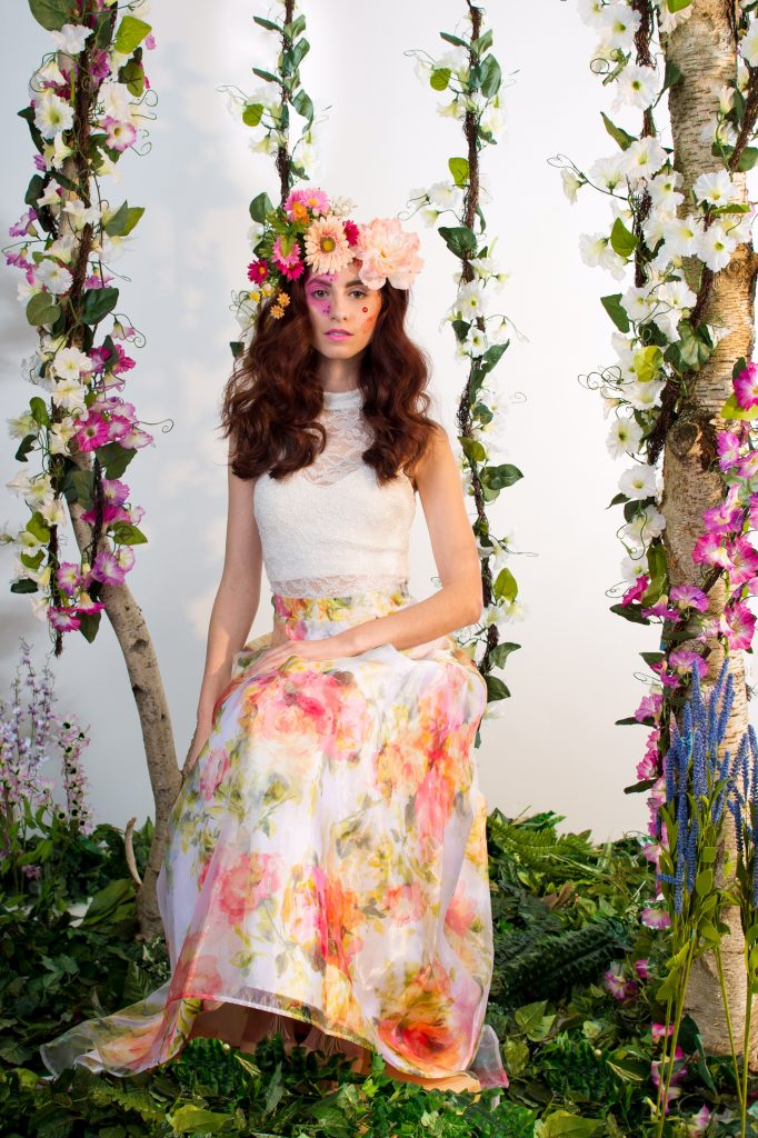 This photoshoot was so fun! Floral inspired makeup by LA Page Makeup, professional makeup artist in CT.