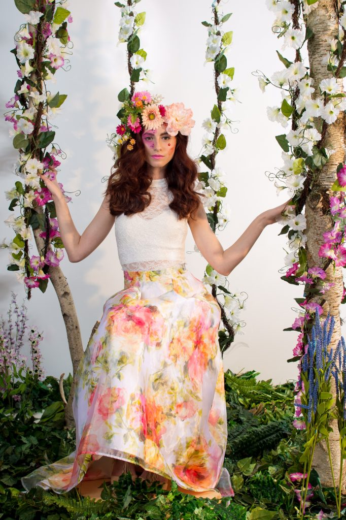 Flowers and vines for days - floral inspired makeup by LA Page Makeup.