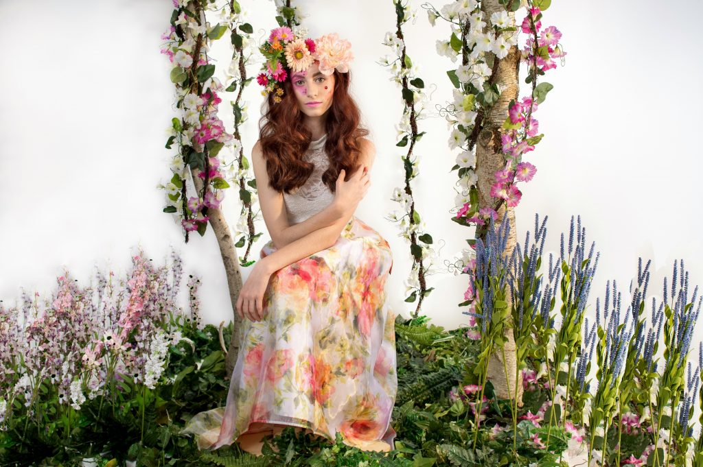 A fabulous, fun, floral photoshoot by LA Page Makeup, professional makeup artist in CT.