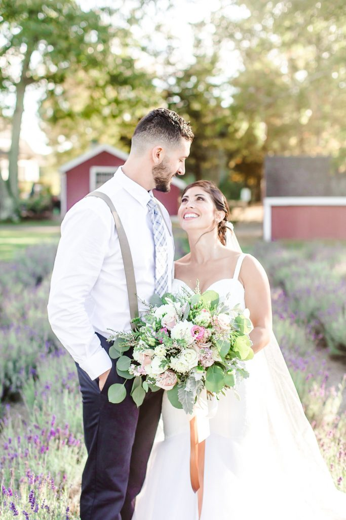 The look of pure love for this lovely couple at Lavender Pond Farm in Killingworth, CT.