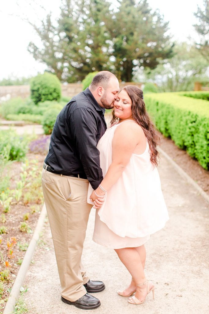 Sweet kisses during this beautiful engagement shoot at Harkness Memorial State Park in Waterford, CT.