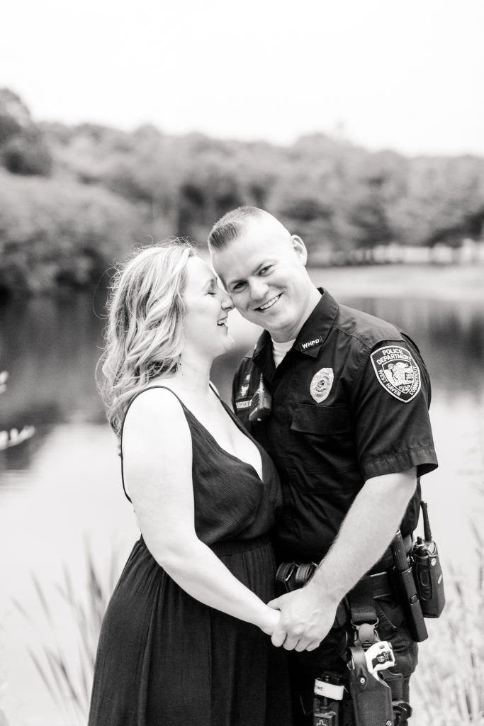 Thank you for your service! Engagement session taken at Lavender Pond Farm in Killingworth, CT.