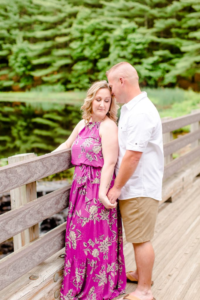Simple makeup by LA Page Makeup for this engagement session at Lavender Pond Farm in Killingworth, CT.