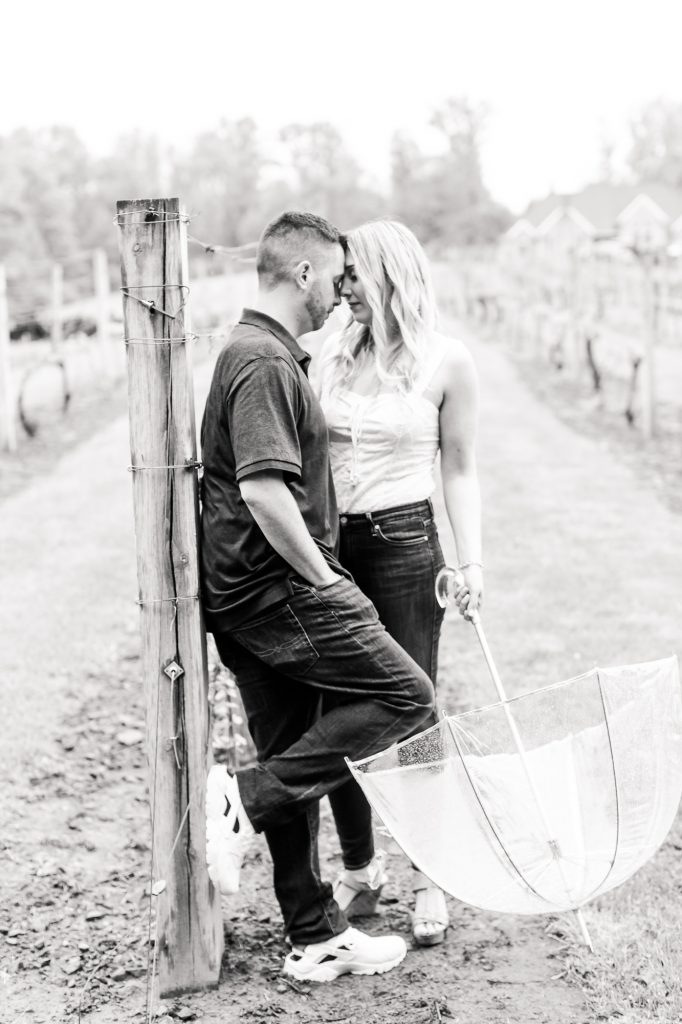 Black and white photos look so romantic at Paradise Hills Vineyard in Wallingford, CT.