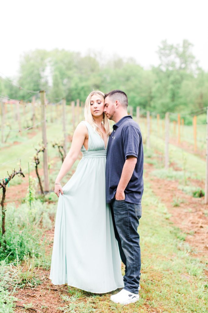Gorgeous makeup done by LA Page Makeup for this engagement photoshoot at Paradise Hills Vineyard in Wallingford, CT.