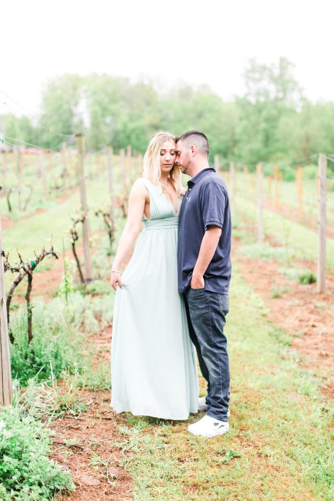 Makeup done by LA Page Makeup for an engagement session at Paradise Hills Vineyard in Wallingford, CT.