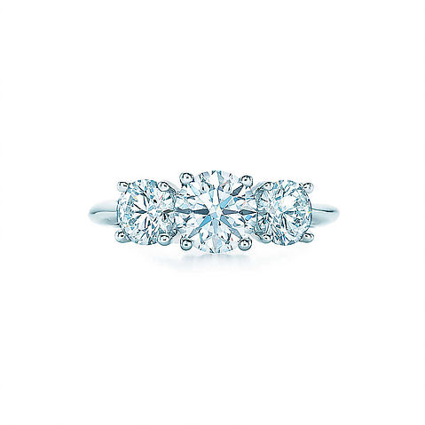 Tiffany & Co. Round Brilliant Three Stone Engagement Ring