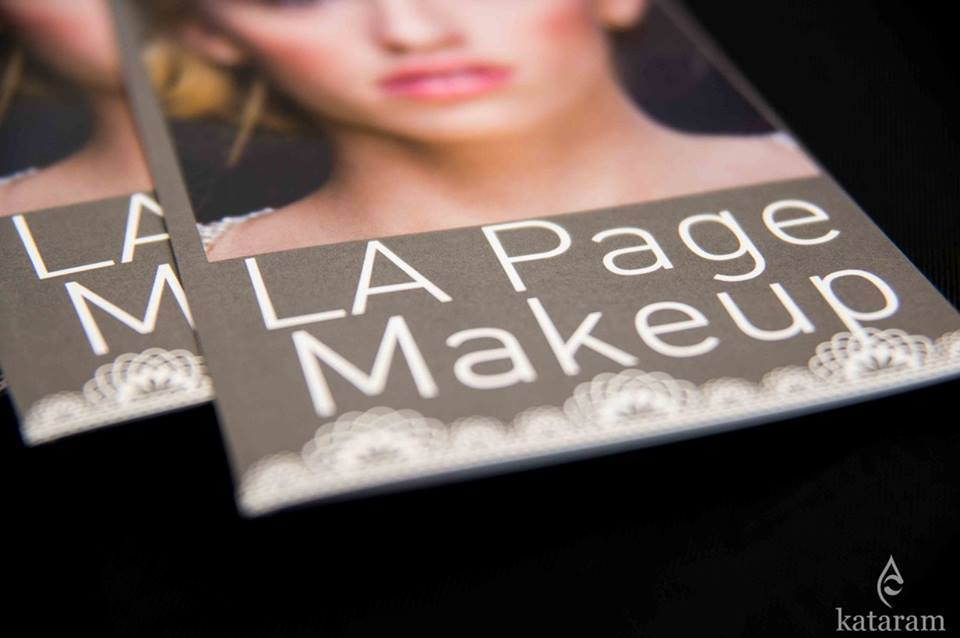 A beautiful shot featuring LA Page Makeup's bridal beauty brochures at the Royal Bridal Expo at UCONN in Storrs, CT.