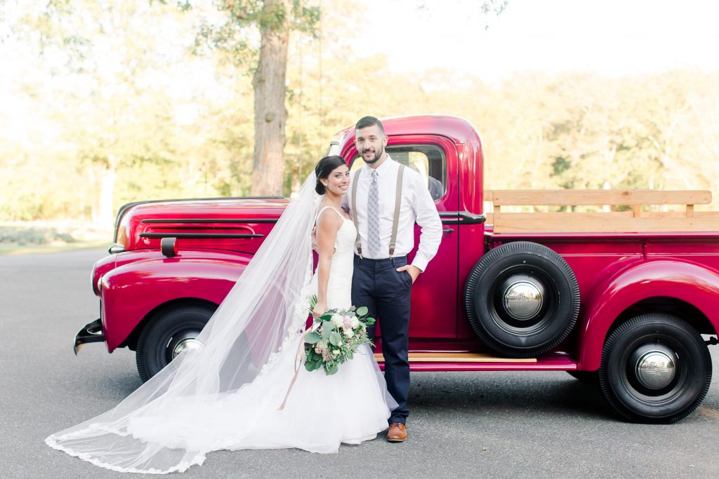 How cool is this vintage red truck at Lavender Pond Farm in Killingworth, CT?!