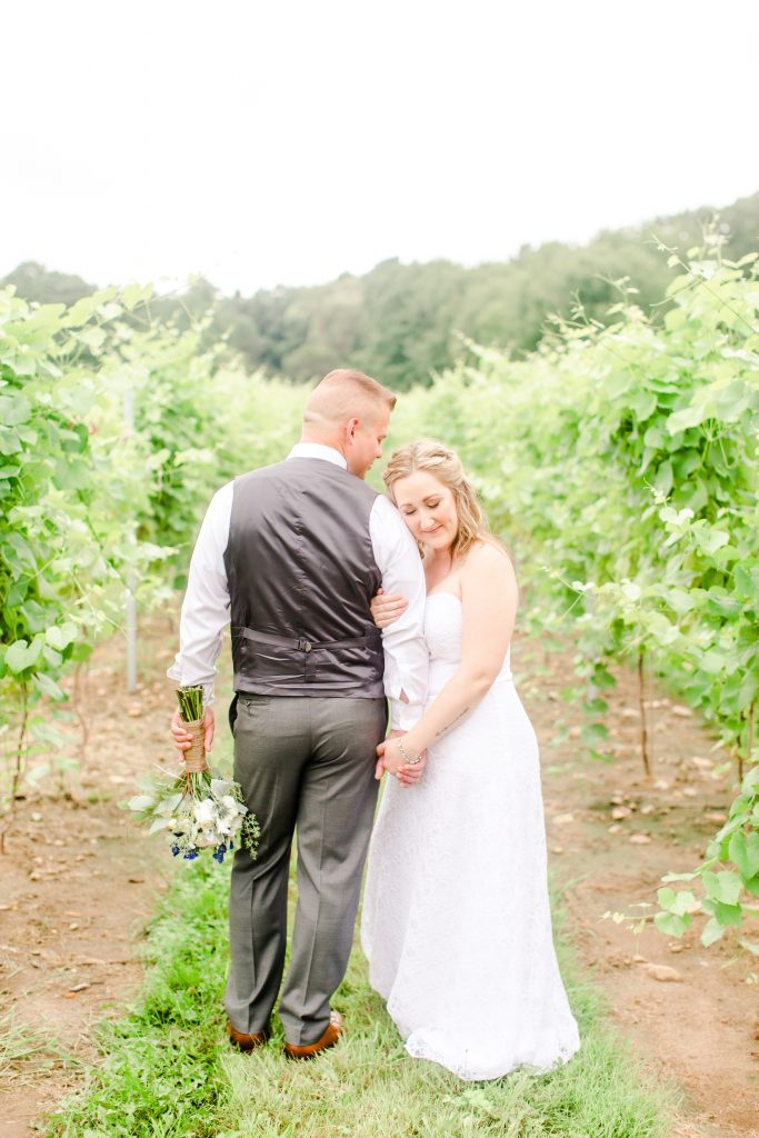 Sneaking some intimate snuggles during the first look at Chamard Vineyard in Cliton, CT.