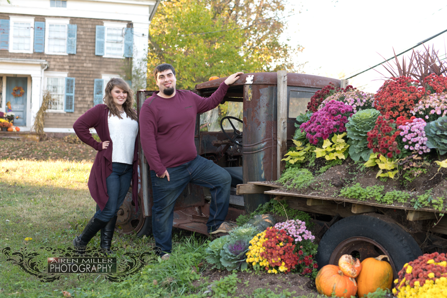 Because who doesn't love vintage trucks at fall florals at Beaumont Farm in Wallingford, CT?!