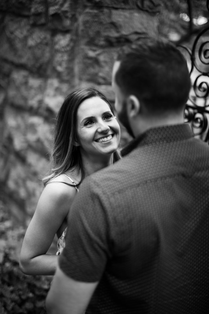 I'm a sucker for classic black and white photos during engagement sessions!