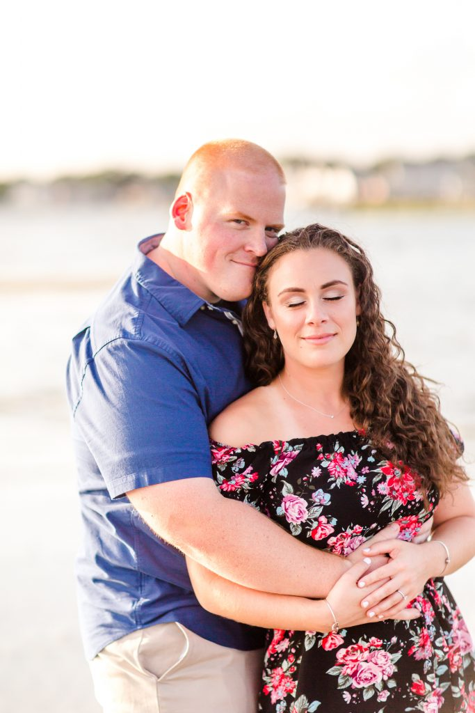 Aren't we all just SWOONING over Erica's gorgeous makeup for their engagement session at Harvey's Beach in Old Saybrook, CT?!