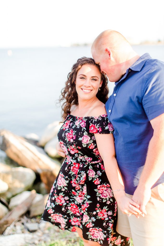 That beaming smile says it all during this engagement photoshoot at Harvey's Beach in Old Saybrook, CT.