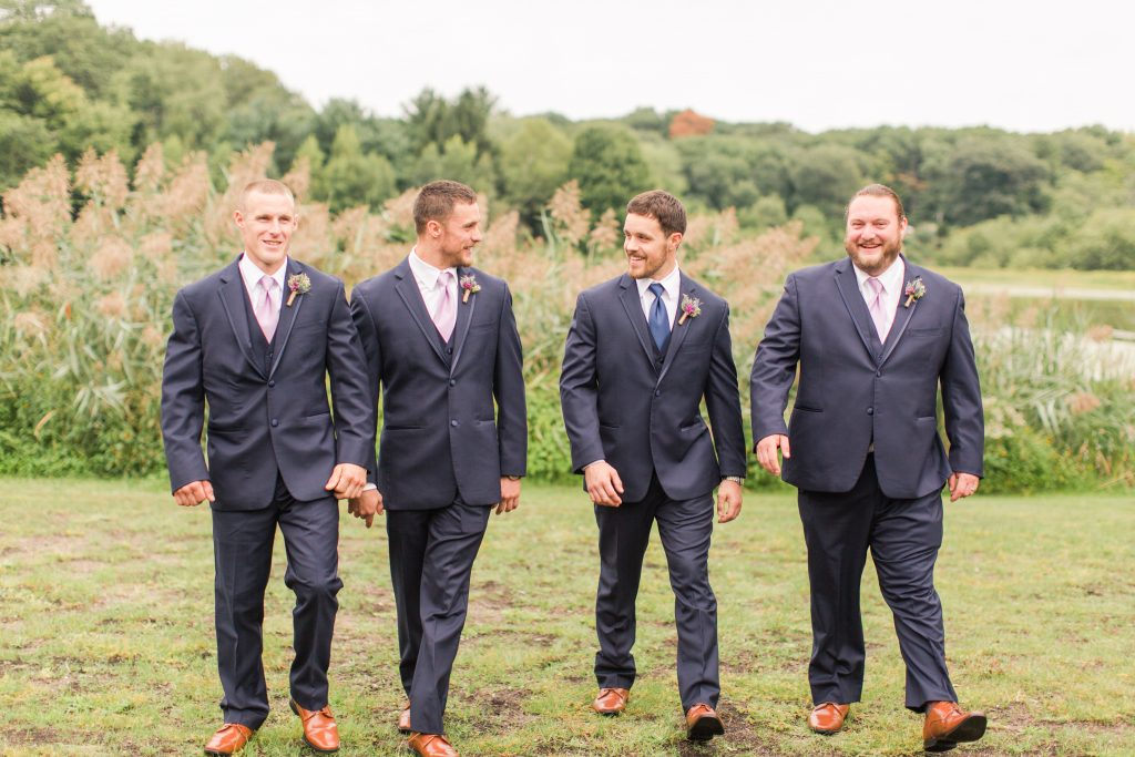 These guys are looking dapper at The Lake House wedding in Wolcott, CT.
