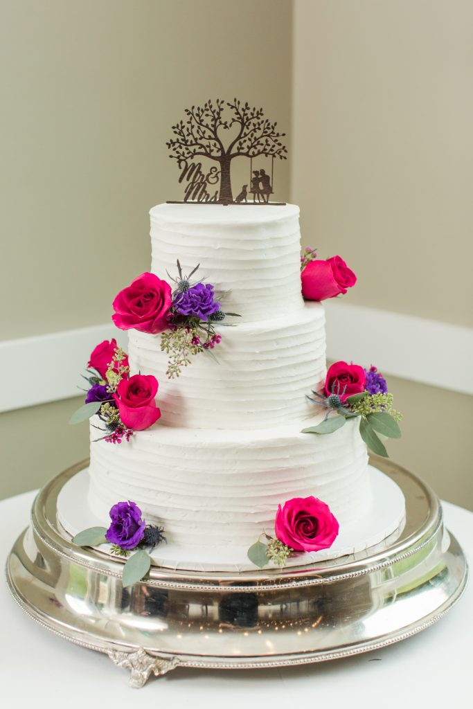 Check out this amazing cake at The Lake House wedding in Wolcott, CT!