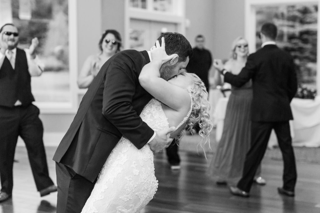 What better way to end an adorable wedding blog post than with this epic kiss shot?!