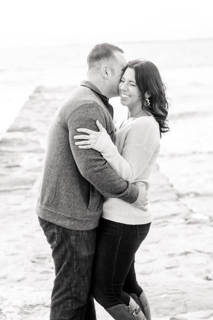Starting off this engagement photoshoot right with a gorgeous black and white shot in Old Saybrook, CT!