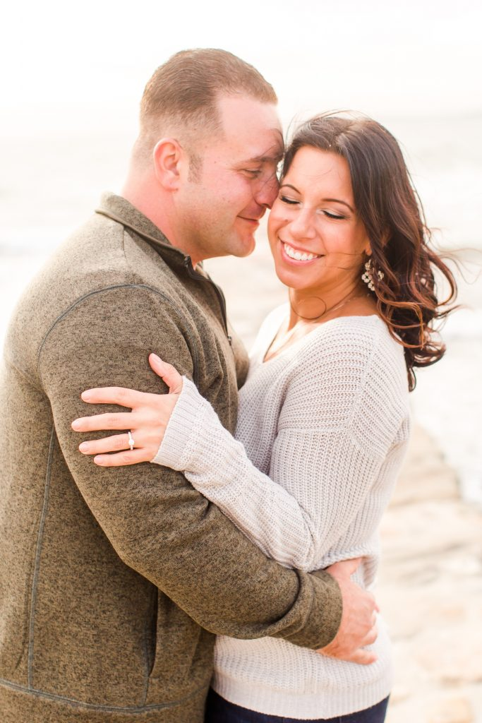 So your engagement session falls on a breezy day? Have a little fun with it!