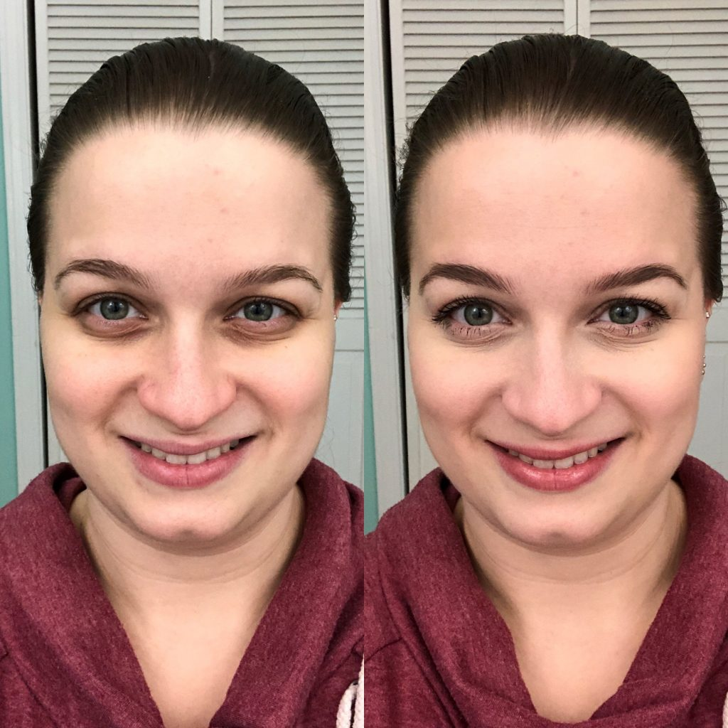 Before and after - how to do your makeup in 2 minutes!