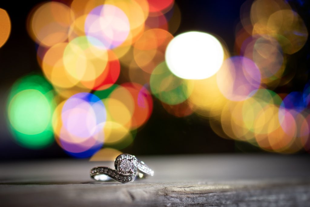How beautiful is this engagement ring?! And that awesome background!