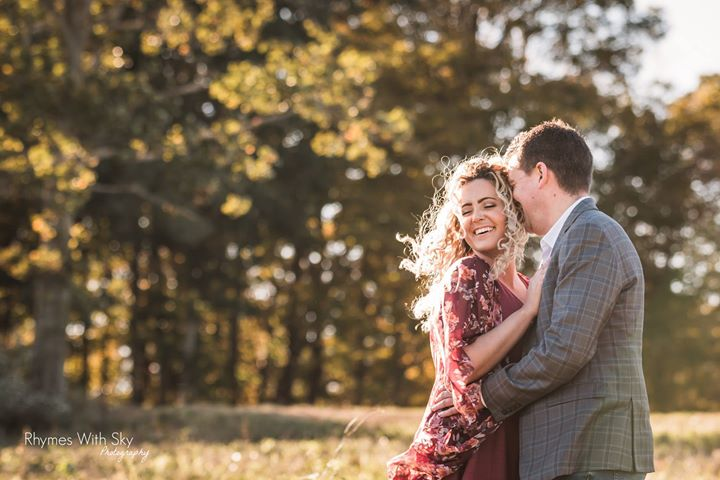 Golden hour, super smile, and a loving couple - the ingredients for a terrific engagement session at Rosabianca Vineyards in Northford, CT!