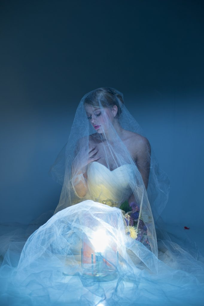 I'm blown away by how gorgeous this moody bridal photo is!