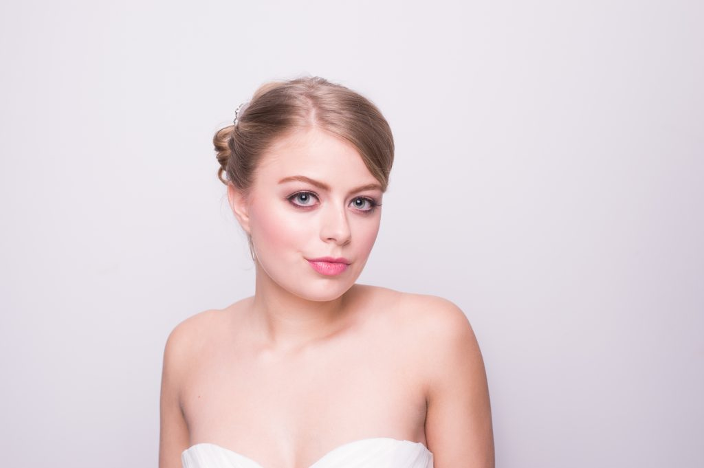 Another beautiful bridal headshot. Makeup by LA Page Makeup.