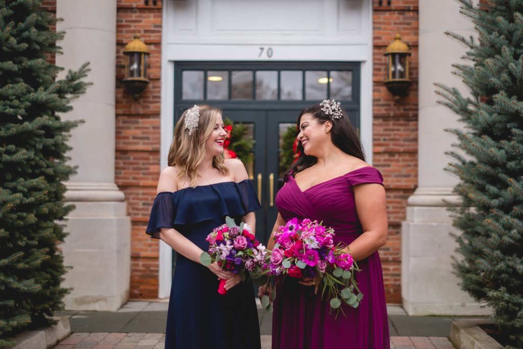 These two had a blast being bridesmaids at the Inn At Middletown!