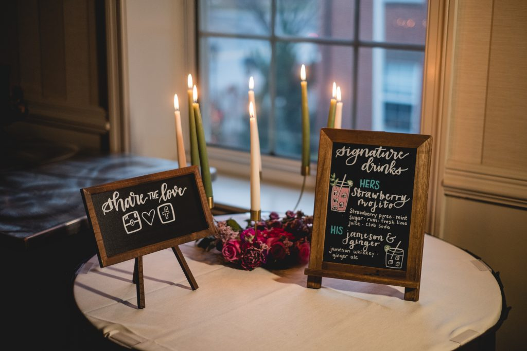 Wedding signs by TS Calligraphy
