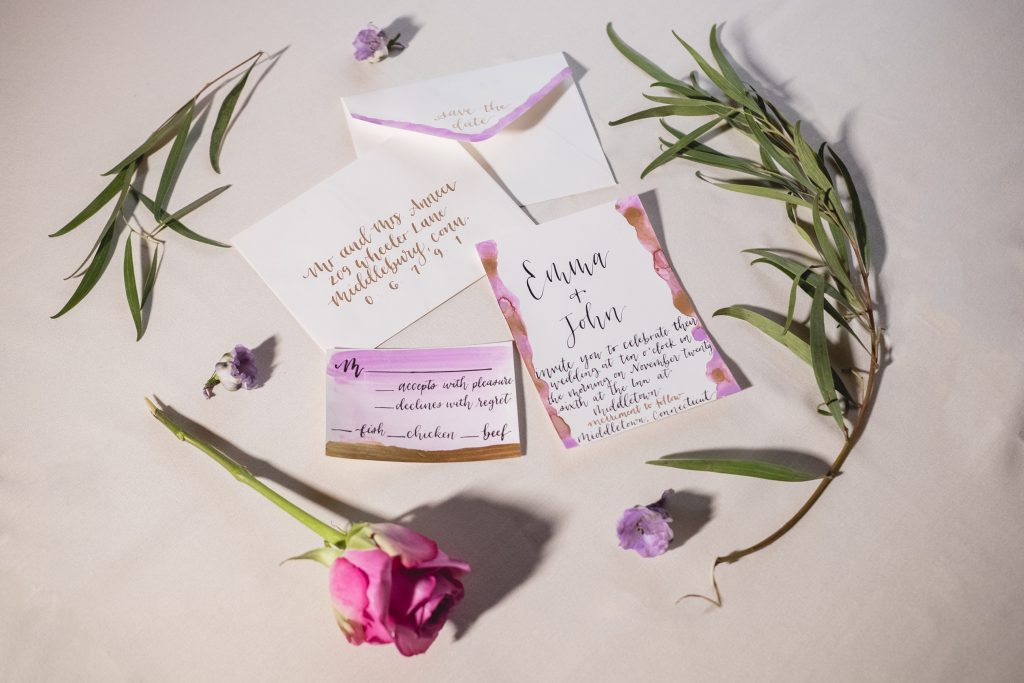 Gorgeous wedding stationary set up