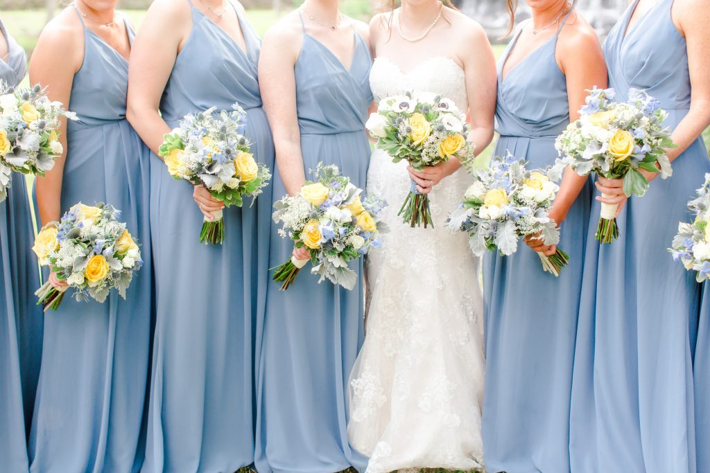 Fabulous florals to complete this bridal party's look!