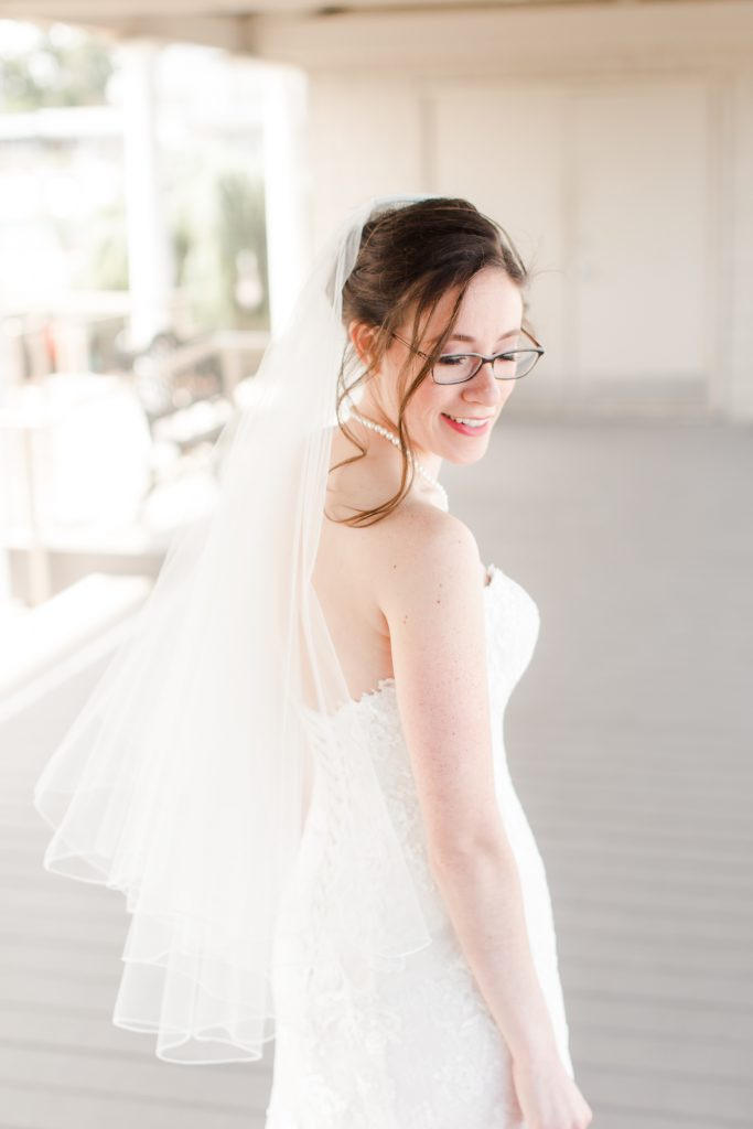 Makeup can still bring out key features while keeping your glasses on during your wedding day!