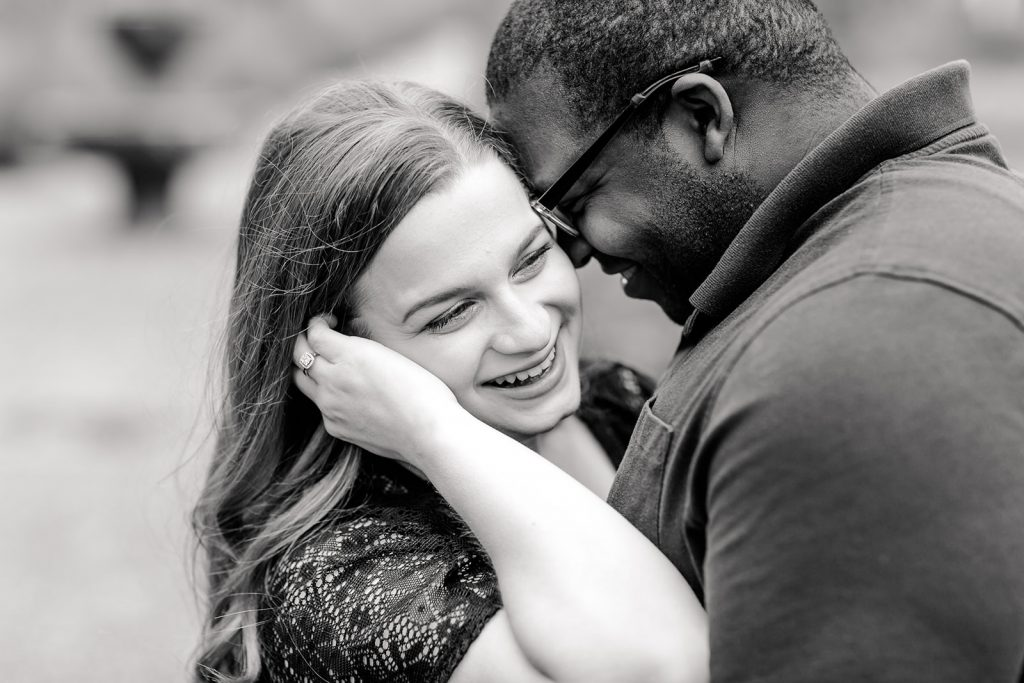 Love this black and white shot at our engagement session at Wickham Park in Manchester, CT.