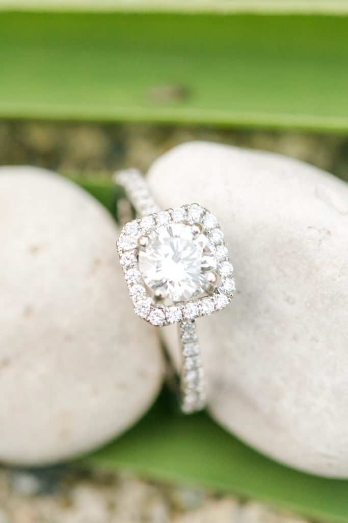 Sarah's engagement ring is so stunning - Todd did a great job picking it out!