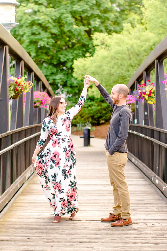 Dance like nobody's watching - it's your engagement session!