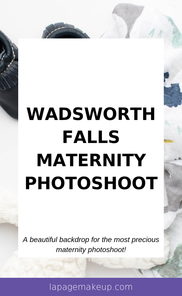 Check out this adorable maternity photoshoot that took place by a beautiful waterfall at Wadsworth Falls State Park in Middletown, CT.
