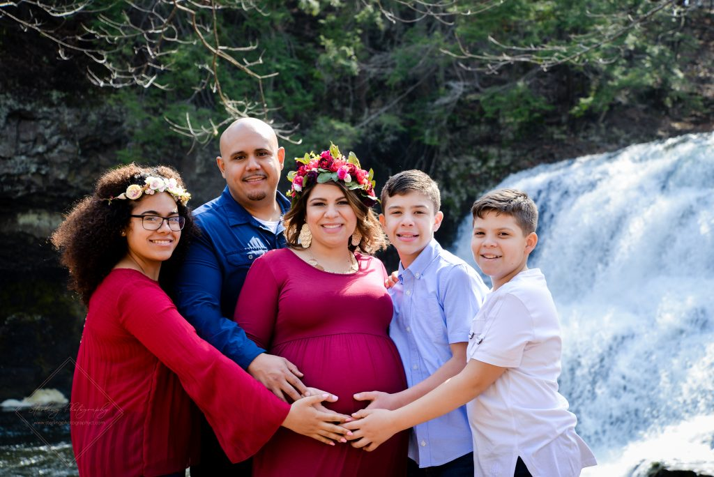 Beautiful family portrait for this mama's maternity photoshoot!