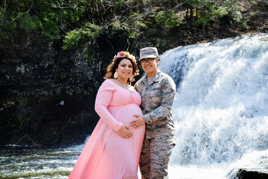 We felt blessed to meet this courageous woman serving in the Army during her mom's maternity photoshoot at Wadsworth Falls State Park in Middletown, CT.