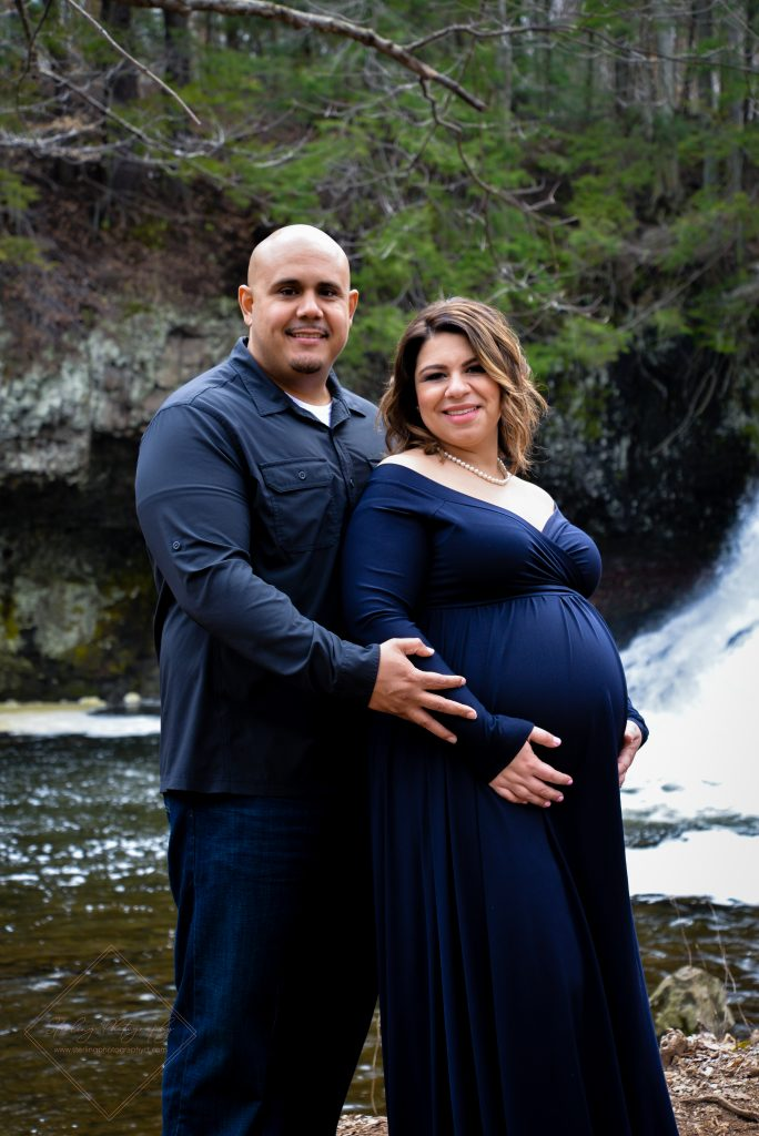 The thrilled parents-to-be at Wadsworth Falls State Park in Middletown, CT.