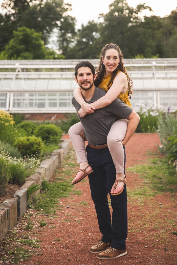 Getting creative with your posing during your engagement session is always fun!