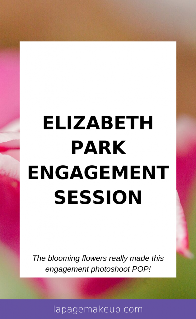 This engagement session at Elizabeth Park in West Hartford, CT was full of color with blooming florals!